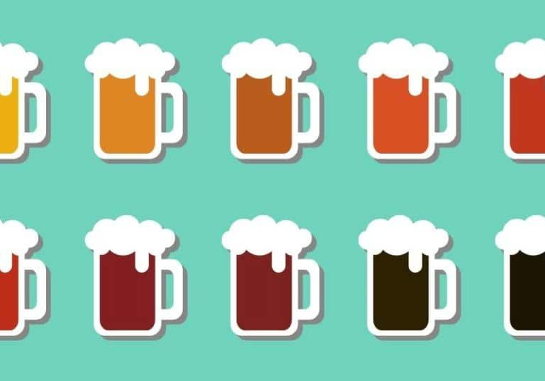 Beer and food pairing guide beer icons.